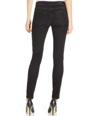 Calvin Klein Jeans Ripped Skinny Jeans, Dark Black Wash - Jeans ...