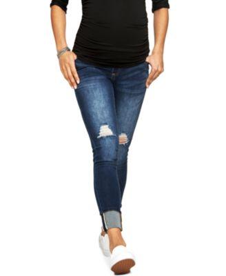 Dark Wash Skinny Maternity Jeans - Best jeans 2017