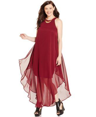 City Chic Plus Size Hardware-Trim Halter Gown - Dresses - Plus ...