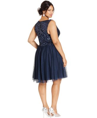 Trixxi Plus Size Sequin-Bodice Party Dress - Dresses - Plus Sizes ...