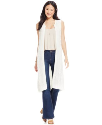 Alfani Petite Shawl-Collar Long Sweater Vest, Only at Macy's ...