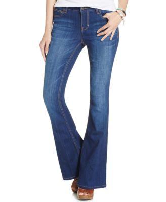Celebrity Pink Jeans Juniors' Low-Rise Flare Jeans, Super Dark ...