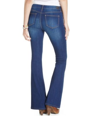 Celebrity Pink Jeans Juniors' Low-Rise Flare Jeans, Super Dark ...