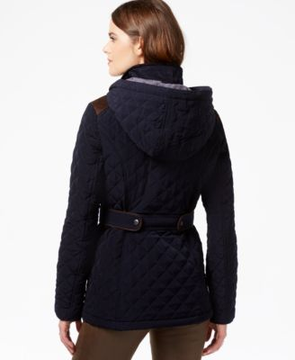 Laundry by Design Hooded Quilted Coat - Coats - Women - Macy's : quilted hooded jacket - Adamdwight.com