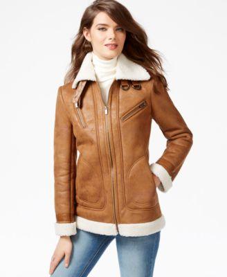 RACHEL Rachel Roy Faux-Shearling Jacket - Coats - Women - Macy's