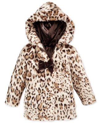 Amy Byer Little Girls' or Toddler Girls' Reversible Faux-Fur ...