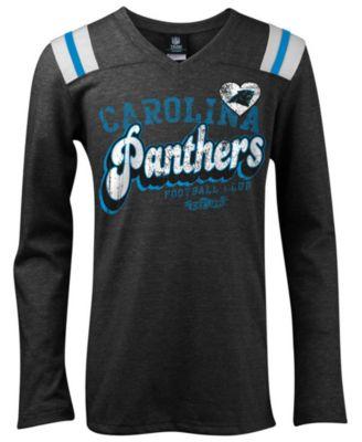 5th & Ocean Girls' Carolina Panthers Tri-Blend T-Shirt - Sports ...