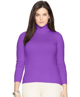 Lauren Ralph Lauren Plus Size Ribbed Turtleneck Sweater - Sweaters ...