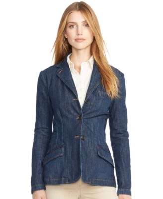 Lauren Jeans Co. Denim Blazer - Jackets & Blazers - Women - Macy's