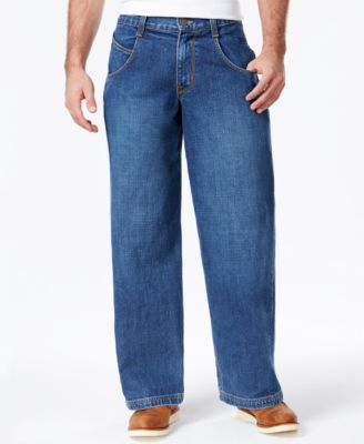 Wide Leg Jeans for Men. As comfortable and uncomplicated as it gets, our Wide Leg Jeans for Men offer both comfort and style. With a roomy fit from the hip through the leg, a great option for the guy who wants room to move but also a stylish fit.