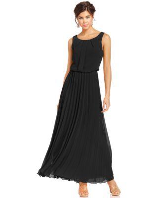 B Darlin Juniors\' Pleated Maxi Dress - Dresses - Juniors - Macy\'s