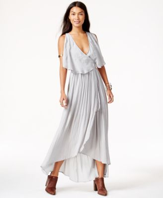 Free People Embroidered Wrap-Detail Maxi Dress - Dresses - Women ...