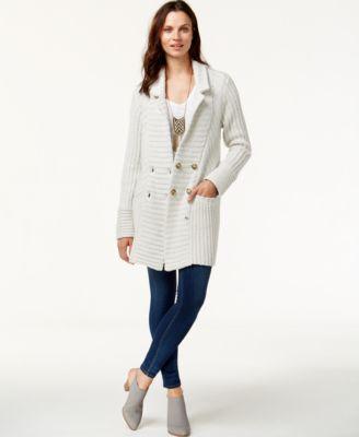Lucky Brand Ribbed Cardigan Coat - Sweaters - Women - Macy's