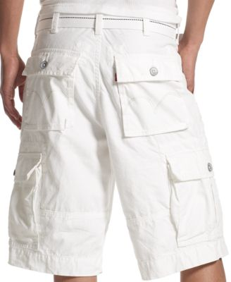 Levi's White Squad Cargo Shorts - Shorts - Men - Macy's