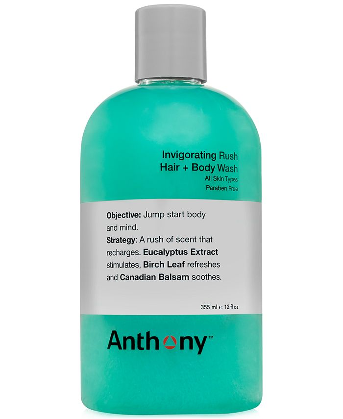 Anthony - Logistics Invigorating Rush Hair & Body Wash, 12 oz