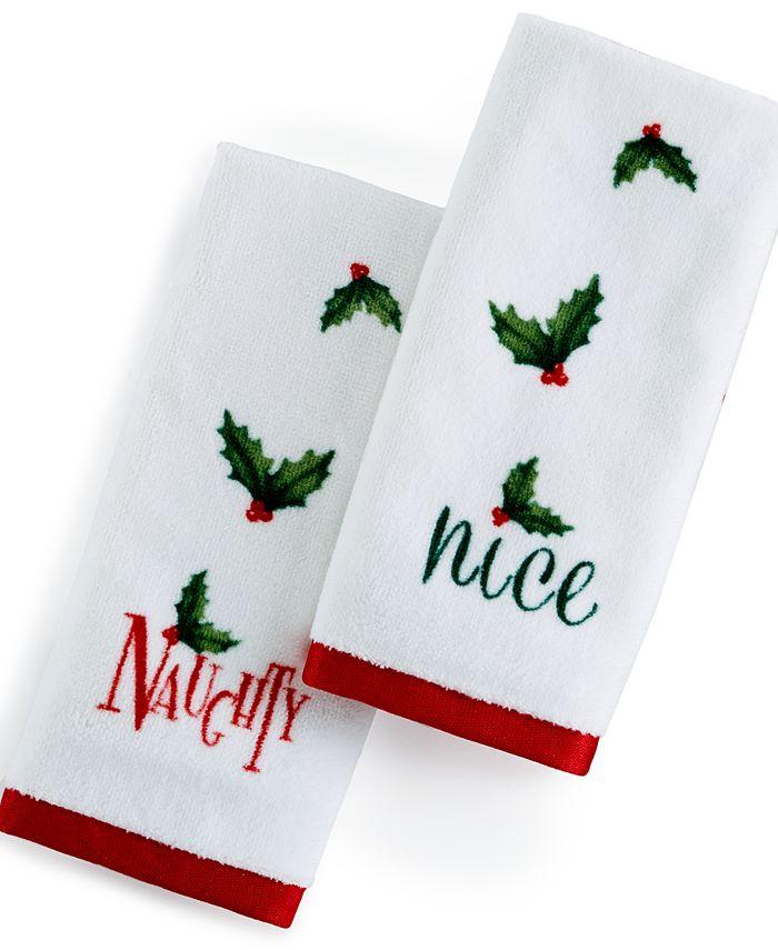 Lenox - Naughty & Nice Fingertip Towel 2-Pc. Set