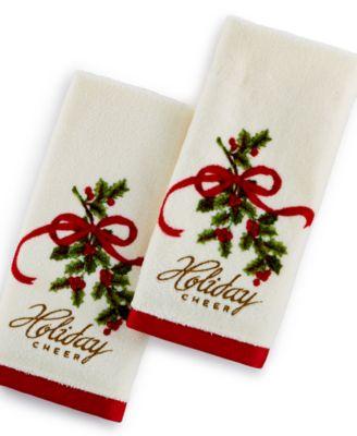 Lenox Holiday Mr. & Mrs. Claus Fingertip Towel Set - Bath Towels ...