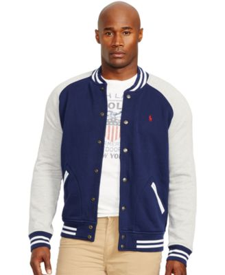 Polo Ralph Lauren Fleece Baseball Jacket - Coats &amp Jackets - Men