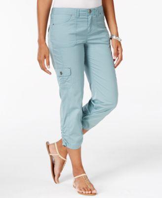 Style&co. Plus Size Lace-Up-Hem Capris - Pants - Plus Sizes - Macy's