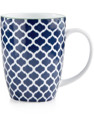 Certified International Chelsea Collection Porcelain Quatrefoil Mug