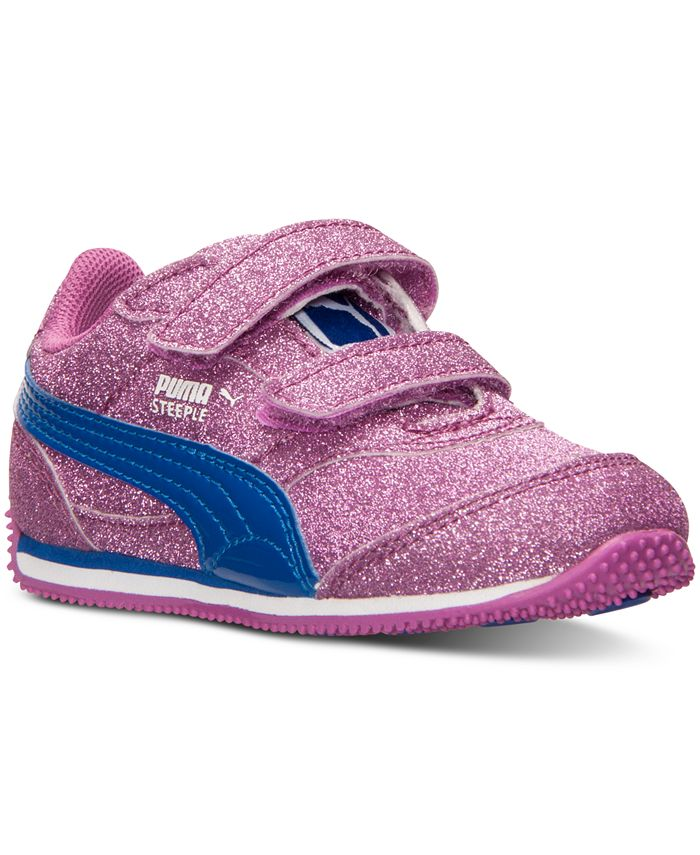 Puma - Toddler Girls' Steeple Glitz AOG V Casual Sneakers from Finish Line