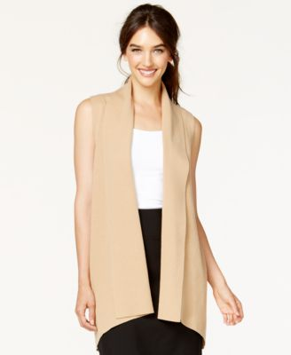 Alfani Shawl-Collar Long Sweater Vest, Only at Macy's - Women's ...