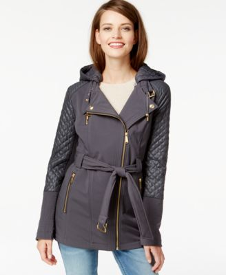 MICHAEL Michael Kors Petite Contrast Quilted Puffer Coat - Coats ...
