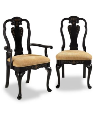 dining chair, hand-painted side chair - furniture - macy's