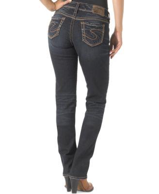Silver Jeans Suki Straight-Leg Jeans, Indigo Wash - Jeans ...