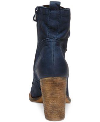Steve Madden Lauuren Lace-Up Booties - Boots - Shoes - Macy\'s