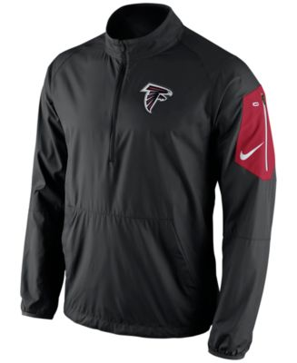 Nike Men's Atlanta Falcons Lockdown Half-Zip Jacket - Sports Fan ...