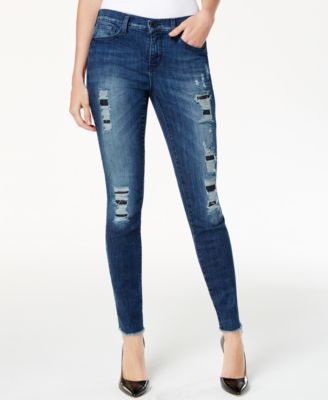 DKNY Jeans City Ripped Ultra Skinny Jeans, Ave Wash - Jeans ...