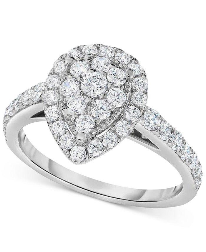 Centennial - Diamond Pear-Inspired Ring (1 ct. t.w.) in 14k White Gold