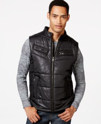 Sean John Quilted Vest - Coats & Jackets - Men - Macy's : leather quilted vest - Adamdwight.com