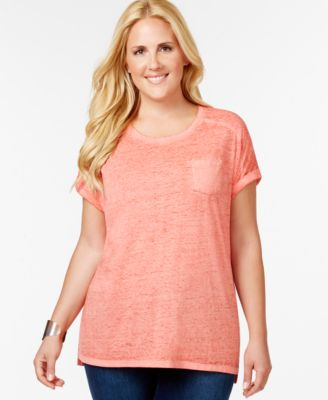 Image of Style & Co. Plus Size Pocket T-Shirt