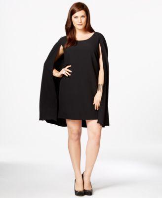 Trixxi Plus Size Cape Sheath Dress - Dresses - Plus Sizes - Macy's