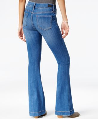 Celebrity Pink Jeans Juniors' Button-Front Flare Jeans, Burning ...