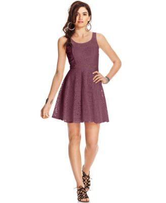Speechelss Juniors\' Sequin Lace Dress - Dresses - Juniors - Macy\'s
