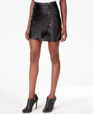 Bar III Snake-Texture Faux-Leather Wrap Skirt, Only at Macy's ...