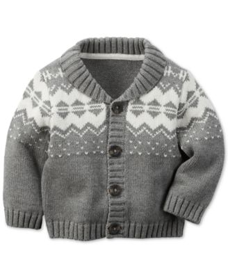 Carter's Baby Boys' Fair Isle Sweater - Kids & Baby - Macy's