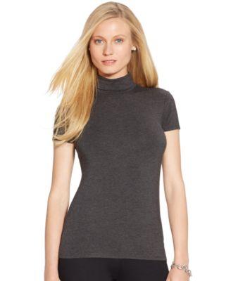 Lauren Ralph Lauren Short-Sleeve Turtleneck - Women's Brands ...