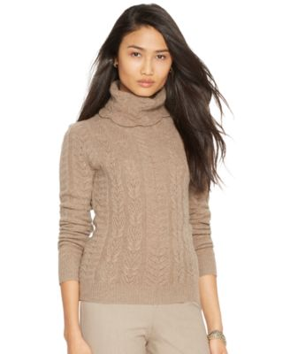 Lauren Ralph Lauren Wool-Cashmere Turtleneck Sweater - Women's ...