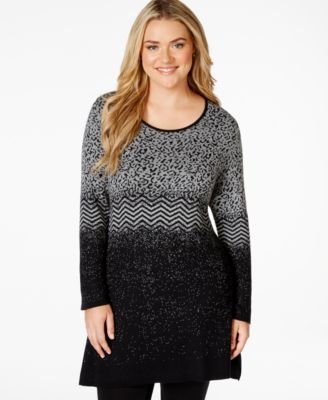 Style & Co. Plus Size Cowl-Neck Poncho Sweater, Only at Macy's ...