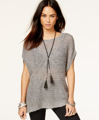 Free People Tatiana Short-Sleeve Pullover Sweater - Sweaters ...