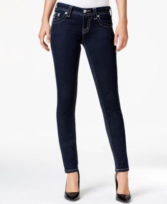 Miss Me Embellished Skinny Jeans Dark Blue Wash - Jeans - Women
