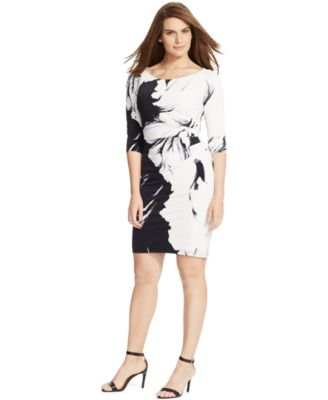 Calvin Klein Plus Size Printed Shift Dress - Dresses - Women ...