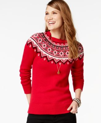 American Living Fair-Isle-Print Sweater, Only at Macy's - Sweaters ...