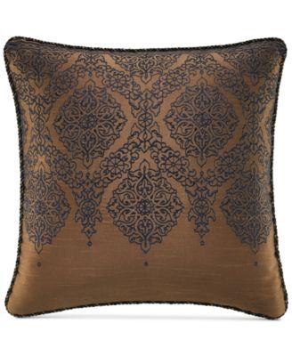 """Croscill Monroe Blue 16"""" Square Embroidered Decorative Pillow"""