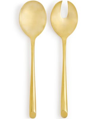 Hotel Collection 18/0 Stainless Steel 2-Pc. Gold-Tone Serving Set, Only at Macy's