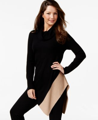 Vince Camuto Asymmetrical Colorblock Sweater - Sweaters - Women ...